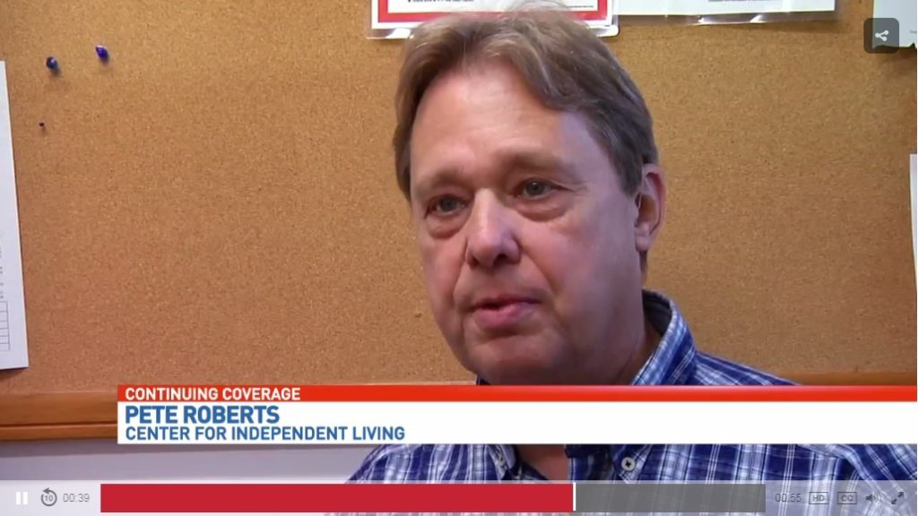 Pete Roberts on TV news